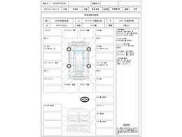 この車の鑑定証の評価点は5点評価の外装が3点、内装が4点です。なお日本自動車鑑定協会会員のJAAA鑑定書は車内にあります。