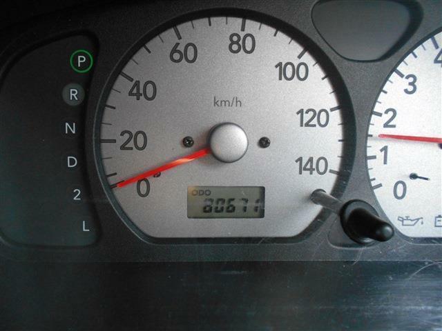 入庫時走行80,671km