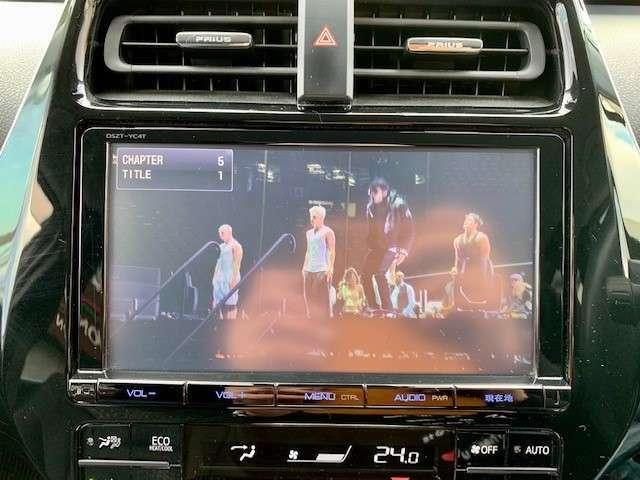 純正9インチナビはDVDの視聴もできます。