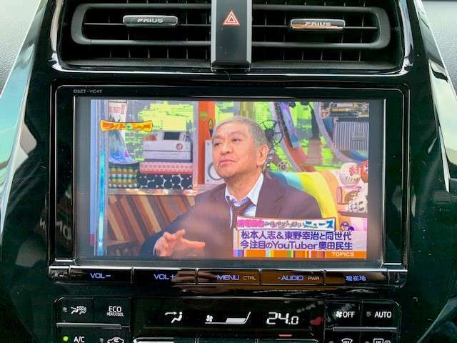 純正9インチナビはフルセグTVの視聴も可能です。