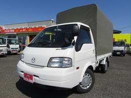 マツダ ボンゴトラック 1.8 DX シングルワイドロー ロング ホロ付1.15t平ボディー ナビTV AT車