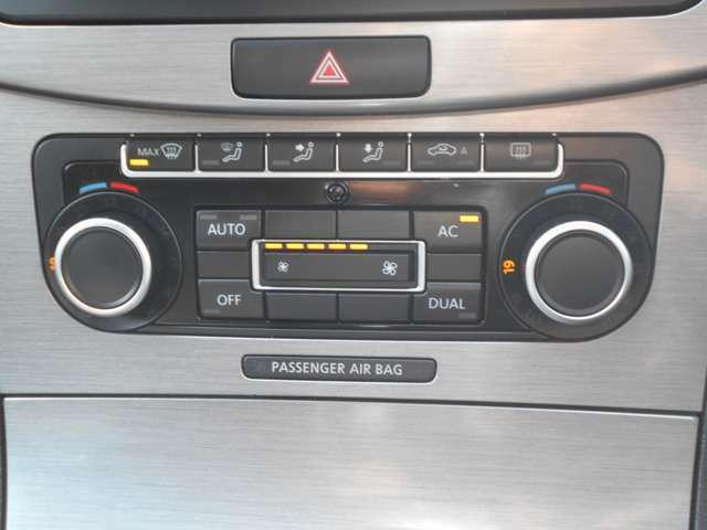 夏季はよく冷え、冬季は瞬時に暖まる運転席&助手席の温度が個別に調整できるエアコンです!このパサートのエアコンの主要部分部品は国産品を使用していますので、エアコンも極端に故障がなく、メンテフリーです!