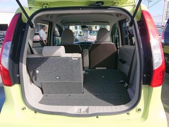 座席を確保しつつ荷物を積めるスペースが広くすることが可能です!