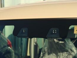 スズキの安全装備!【デュアルカメラブレーキサポート】人の目のように2つのカメラから対象の形や距離を捉え、歩行者やクルマを認識☆車線も認識し、さまざまな警報やブレーキをそなえています!!