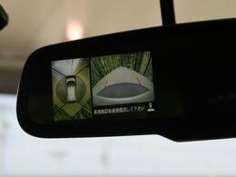 【全周囲モニター】まるで車を上から見たように、車の周りがみれるカメラです。バックカメラに加えてこのカメラで、駐車しやすさUP♪