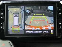 ■パノラマモニター(空から見下ろした映像で安心して駐車できます。縦列駐車もラクラク♪