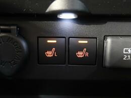 【シートヒーター】冬場にはエアコンよりも温まるのが早く、女性の方にも好評の装備になります♪