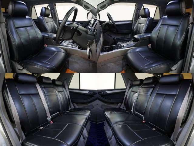◆◇革調シートカバーで高級感アップ!!社外ナビやLEDルームランプも装備されており、実用性・見た目もGOOD!!◇◆