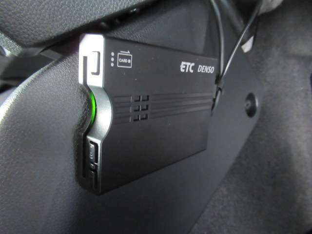 ETCを装備、高速道路の乗り降りもスイスイ楽々
