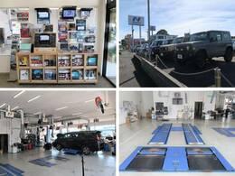 大型の指定工場を併設しており、車検から日常点検まで安心してお任せいただける環境を整えております。ナビ・ドライブレコーダー等各種部品の取り付けも承っており、デモ機で使用感を確認いただく事も可能です。