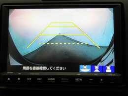 ★リヤカメラ画像です。ガイドラインで車両間隔をつかみやすくなっています。バック時に見ずらい場所や狭い駐車場で便利です★
