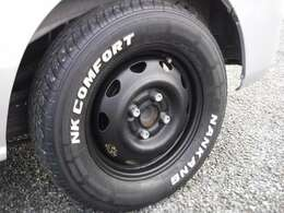 春仕様にイメージチェンジ!鉄チンホイールをチッピング塗装・タイヤはナンカン製ホワイトレターをチョイス!