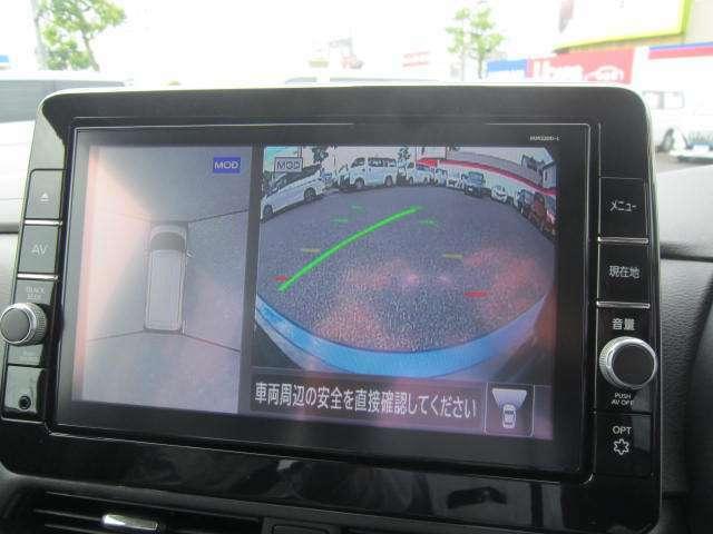 アラウンドビューモニターで車の廻りがぐるっと見えます