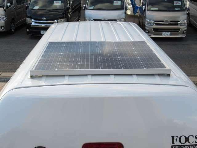 ソーラーパネル装着済みです!あると嬉しい装備ですね♪