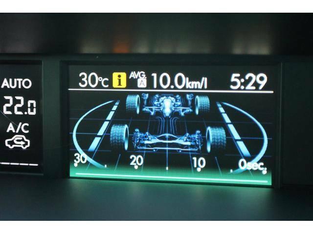 【マルチインフォメーションディスプレー】メーター内に各種の車両、走行情報をお知らせする、マルチインフォメーションディスプレーを配置しております。