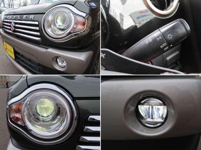 ディスチャージヘッドライト装備!フォグライトと相まって夜間走行はもちろんの事濃霧時も視界をしっかり確保!オートライトも搭載しているので無灯火走行を避けられますよ。