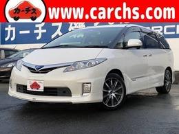 トヨタ エスティマハイブリッド 2.4 G 4WD ユーザー買取車/保証書付き/純正HDDナビ