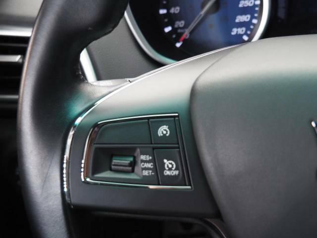 クルーズコントロール装備なので、ノーアクセルで巡行でます。長距離運転の強い味方に。