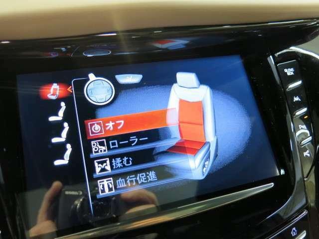 フロントシートはマッサージチェアとなっており、ロングドライブも快適!