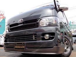 トヨタ ハイエースバン 2.0 スーパーGL ロング 1オーナナビ後席TVエアロBKインナLED黒革調