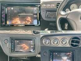 DVDモニター オートエアコンパネル 革巻きステアリング