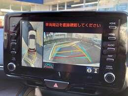 【バックモニター付き】 これで苦手な駐車もマイスターに♪ ナビの画面にしっかりと表示されます ※画像はパノラマビュー追加した場合の写真になります パノラマビューは33,000円頂ければパノラマに変更可能です