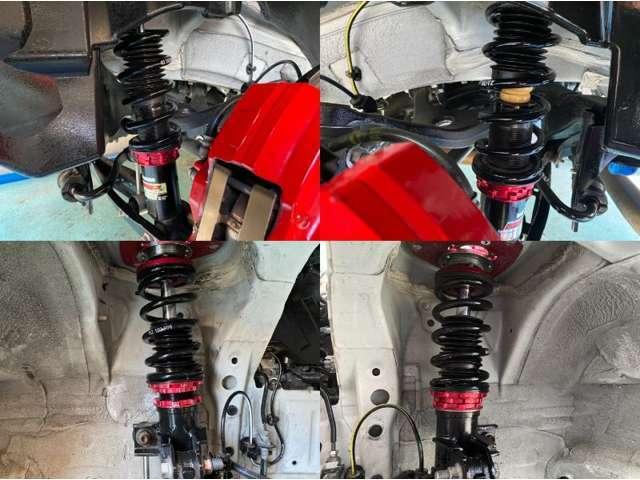 ☆BRITZ減衰力調整付き車高調フルタップ車高調付きでお好きな車高に調整可能です!