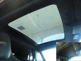 ガラスルーフ車内に明るい陽射しを注ぎ込み開放的な気持ちにさせてくれる快適機能になりますFタイプにとって希少な装備です。