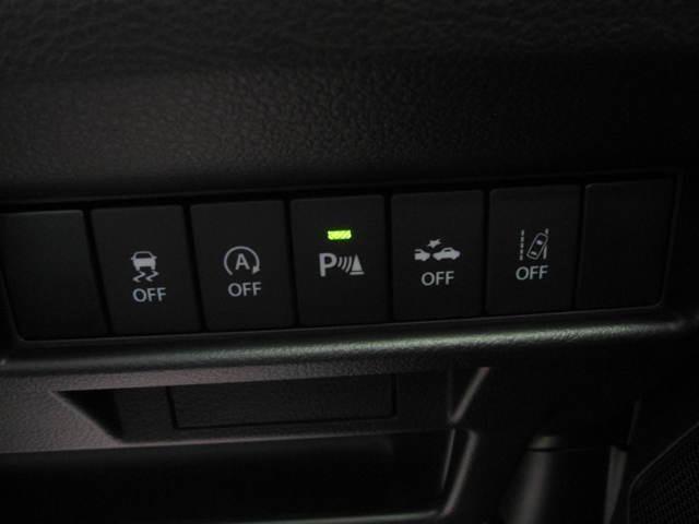 リヤバンパーに4つの超音波センサーを内蔵し、車輛後方にある障害物を検知、透明なガラスも検知でき、コンビニの駐車場などでの衝突回避をサポートします
