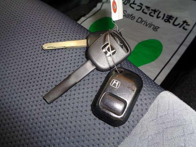 便利なキーレスキー付き!何気に重要ですよね!ご安心下さい!