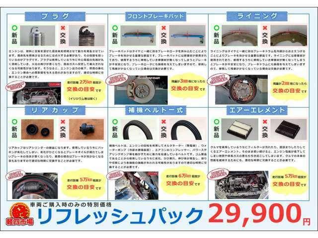 Bプラン画像:★軽四市場の安全安心おすすめリフレッシュパック★