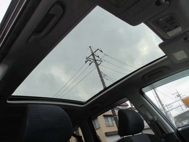 ガラス屋根です。