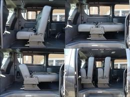 座面を跳ね上げて折り畳みが可能でカースペースも広々使用可能