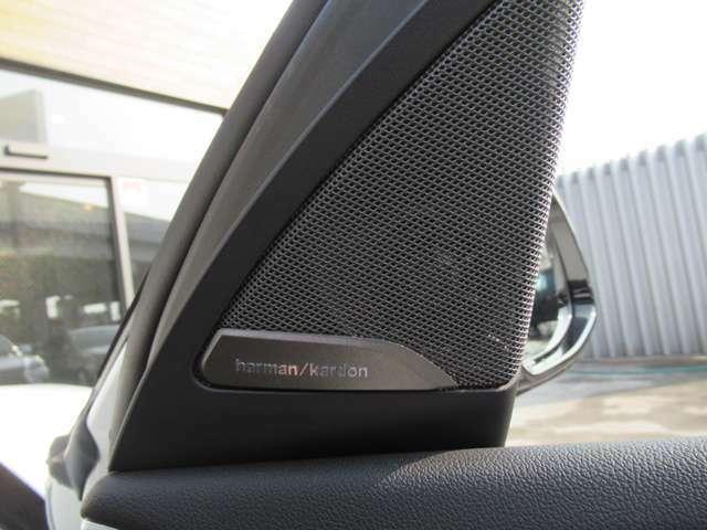 オプション設定のHarman/Kardonサラウンド・サウンド・システムは車内で臨場感のあるクリアな音質をお楽しみいただけます♪