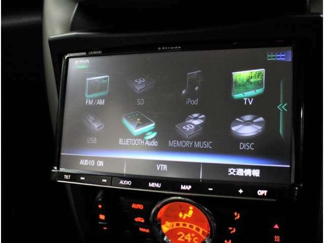 フルセグ、CD,DVD再生、Bluetoothオーディオ付きです!
