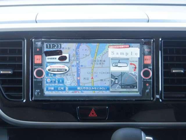 新品のオーディオ一体型純正ナビ(MJ120D-W)を取り付けて納車いたします。地デジフルセグ、携帯音楽プレーヤー接続が利用可能です。