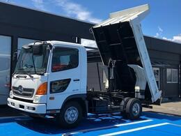 日野自動車 レンジャー 強化ダンプ 積載3.6t 一方開 新明和 190馬力 6MT