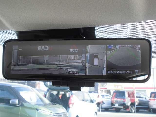 デジタルルームミラー装備、カメラ映像を加工するのでルームミラーが遮られても安心!