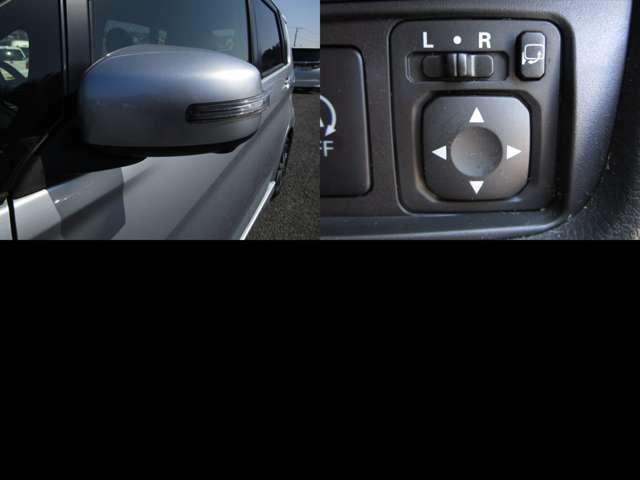 視認性の良いサイドミラーウインカー付ドアミラーで、自動格納ドアミラー仕様です。