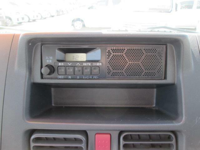 ラジオ付きで運転中も情報入ってきます!