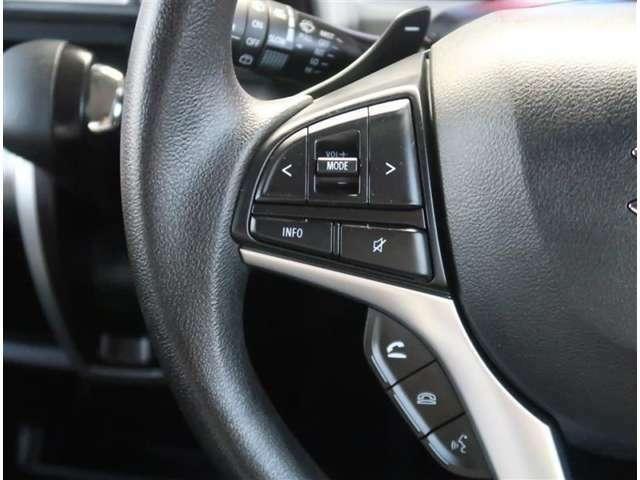 【ステアリングスイッチ】運転しながら各種操作が可能な画期的な装備!とっても便利ですよ。