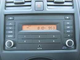 2DINオーディオ(AUXーIN、ラジオ)「AUX端子」お手持ちのオーディオ機器を接続して、愛車で保存した音楽を聴くことが出来ます