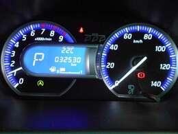 視認性とデザイン性を兼ね備えたファインビジョンメーター。アシストディスプレイには燃費情報や走行可能距離等様々な情報を表示する事が可能です。