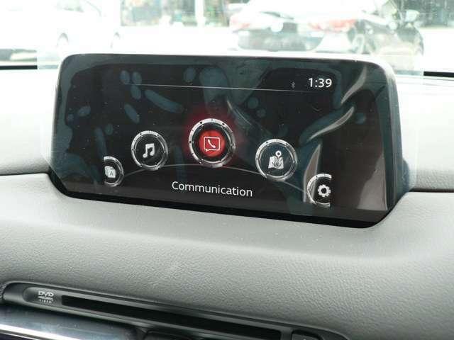 8.8インチになったマツダコネクトは運転者に傾いていて見やすくなっていますし、インナーカメラ内蔵でドライバーの疲れを検知します。