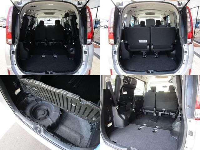 後席シートを倒せば大きな荷物も積み込み可能です♪