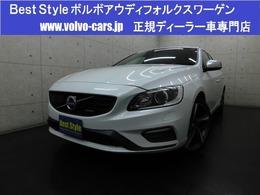 ボルボ V60 T4Rデザインセーフティpkg 黒革/純HDD/Bカメラ/スマート/ETC/1オナ/保