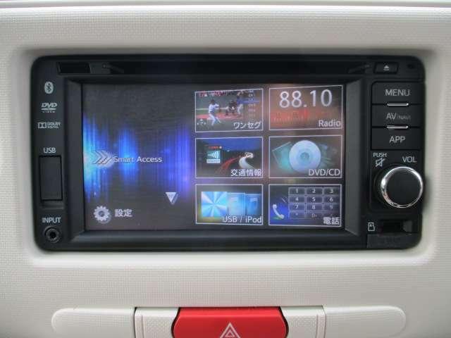純正のナビを搭載!CD/DVD/Bluetooth/ワンセグ使用可能です☆
