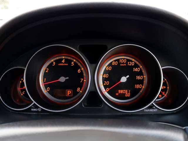 【メーター】現在の走行距離98,061kmでございます。