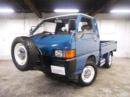 三菱 デリカトラック キャブオーバー 平ボディ 4WD ディーゼルターボ スペアタイヤラック