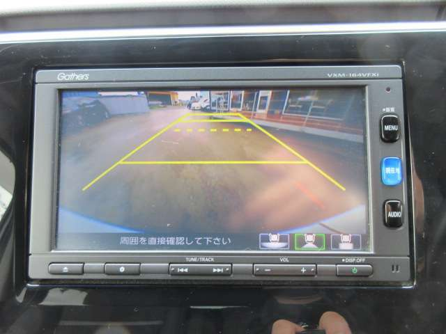 純正ギャザーズメモリーナビ付き♪ ガイド線付バックカメラで駐車も安心ですね♪ 広角のカメラを使用しております♪